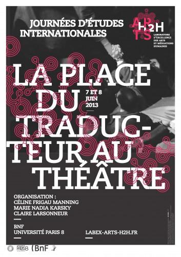 Affiche Place du traducteur au théâtre